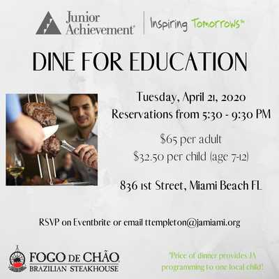 Dine for Education at Fogo de Chao - POSTPONED